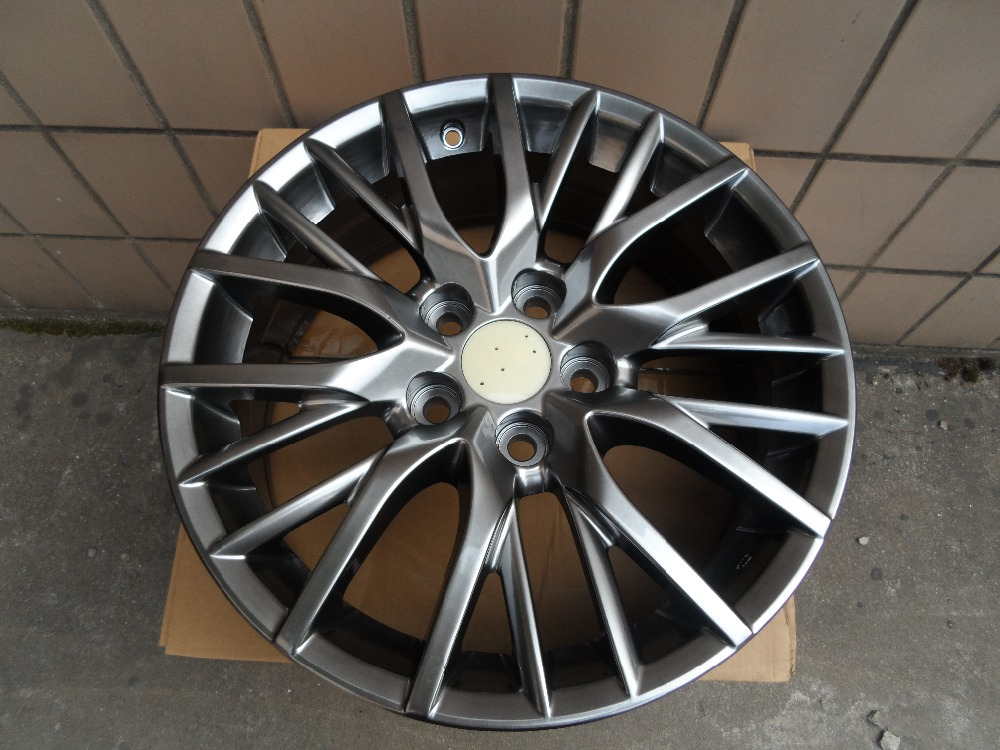 Four pieces 20x8.0 et 30 5x114.3 Black Alloy Wheel Rims W241 for LEXUS RX300 RX330 RX350 RX400H RX450H