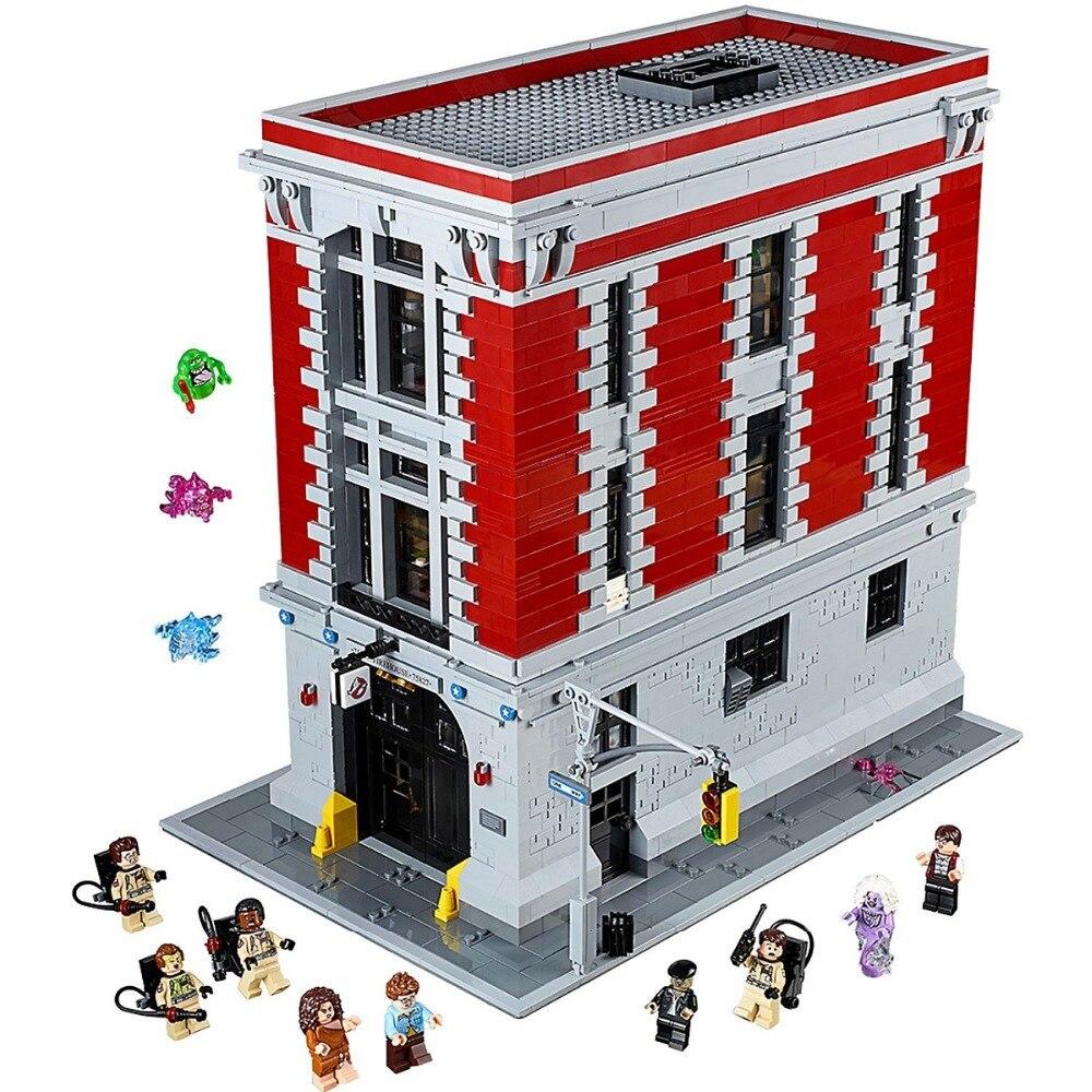 Caserma Sede Compatibile Legoe Ghostbusterse 75827 Blocchi di Costruzione di giocattoli per Bambini Mattoni Modello regalo del capretto