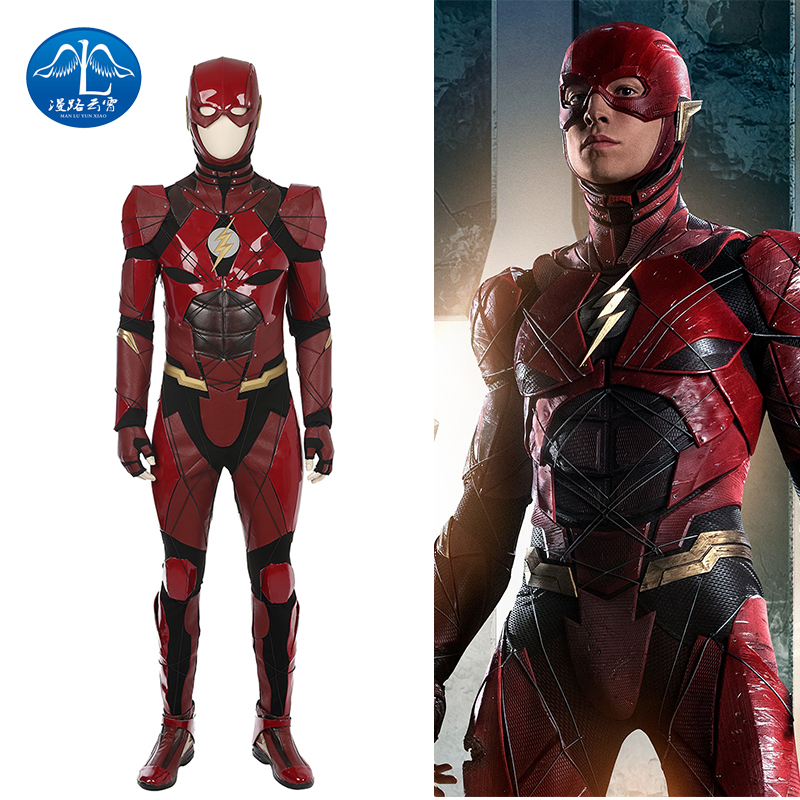 Justice League Flash Cosplay Costume Red Leather Suit Superhero Halloween Costumes For Adult Custom Made Jumpsuit Flash Costume-in Movie u0026 TV costumes from ...  sc 1 st  AliExpress.com & Justice League Flash Cosplay Costume Red Leather Suit Superhero ...