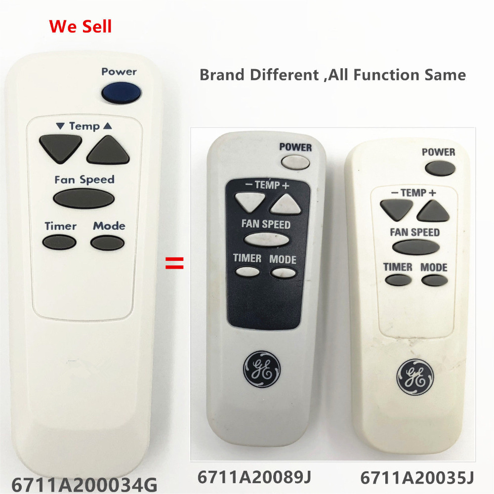 New Original Remote Control 6711A20034G  Compatible With 6711A20089J 6711A20035J For LG / GE Window Air Conditioner