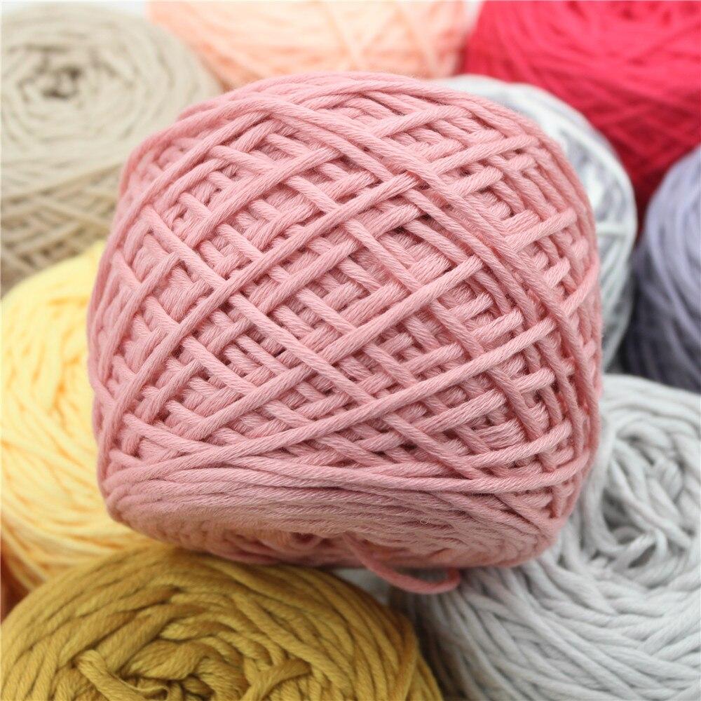 400g 56 color algodón grueso leche Hilado para tejer la bufanda ...