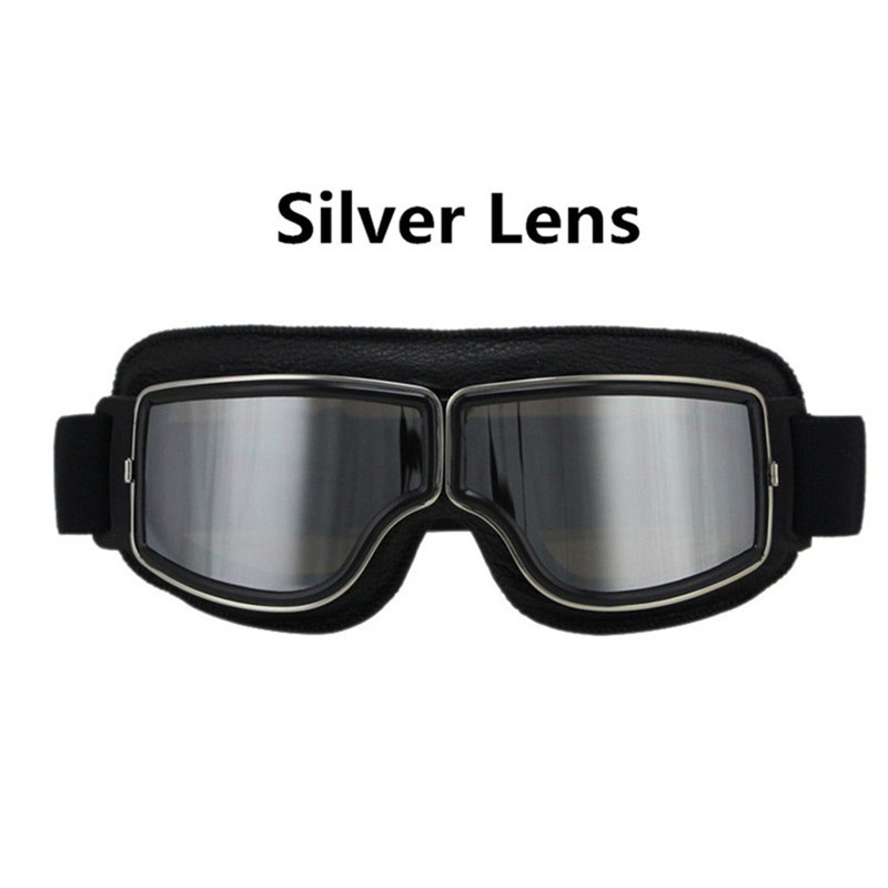 HOT SELL Universal Vintage Motorcycle Goggles Pilot Aviator Motorbike Scooter Biker Glasses Helmet Goggles Foldable For Harley in Motorcycle Glasses from Automobiles Motorcycles