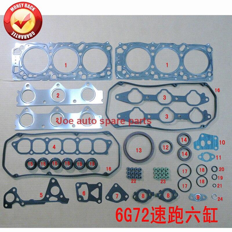 6G72 24 V Motore Completo guarnizioni set kit per Mitsubishi PAJERO III STRADA MONTERO TRITON 3.0L 96-06 50218600 MD976845 430230 P FG6120