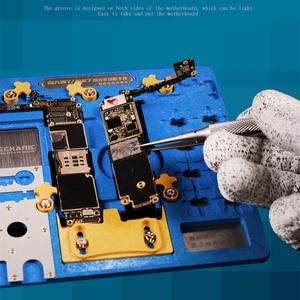 Image 5 - لوحة الدوائر PCB حامل تهزهز تركيبات محطة العمل آيفون XR/8P/8/7P/7/6SP/6S/SE/6P/6/5s/5 المنطق المجلس a7 A12 رقاقة إصلاح