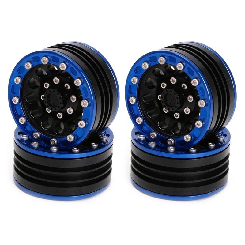 2018 New 4pcs 1.9 Beadlock Metal1060 For RC 1/10 Rock Crawler Axial SCX10 D90 Wheel Rim 4pcs aluminum 1 9 beadlock wheel rims 1060 for 1 10 rc truck rock crawler axial scx10 d90 racing