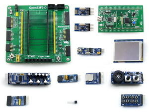 module STM32 Cortex-M0 Development Board STM32F051R8T6 for STM32F0DISCOVERY Kit+2.2inch 320x240 Touch LCD+9 Modules=Open32F0-D P module stm32 discovery m24lr discovery m24lr stm32 board powered by rfid stm8l152 and stm32f103 onboard