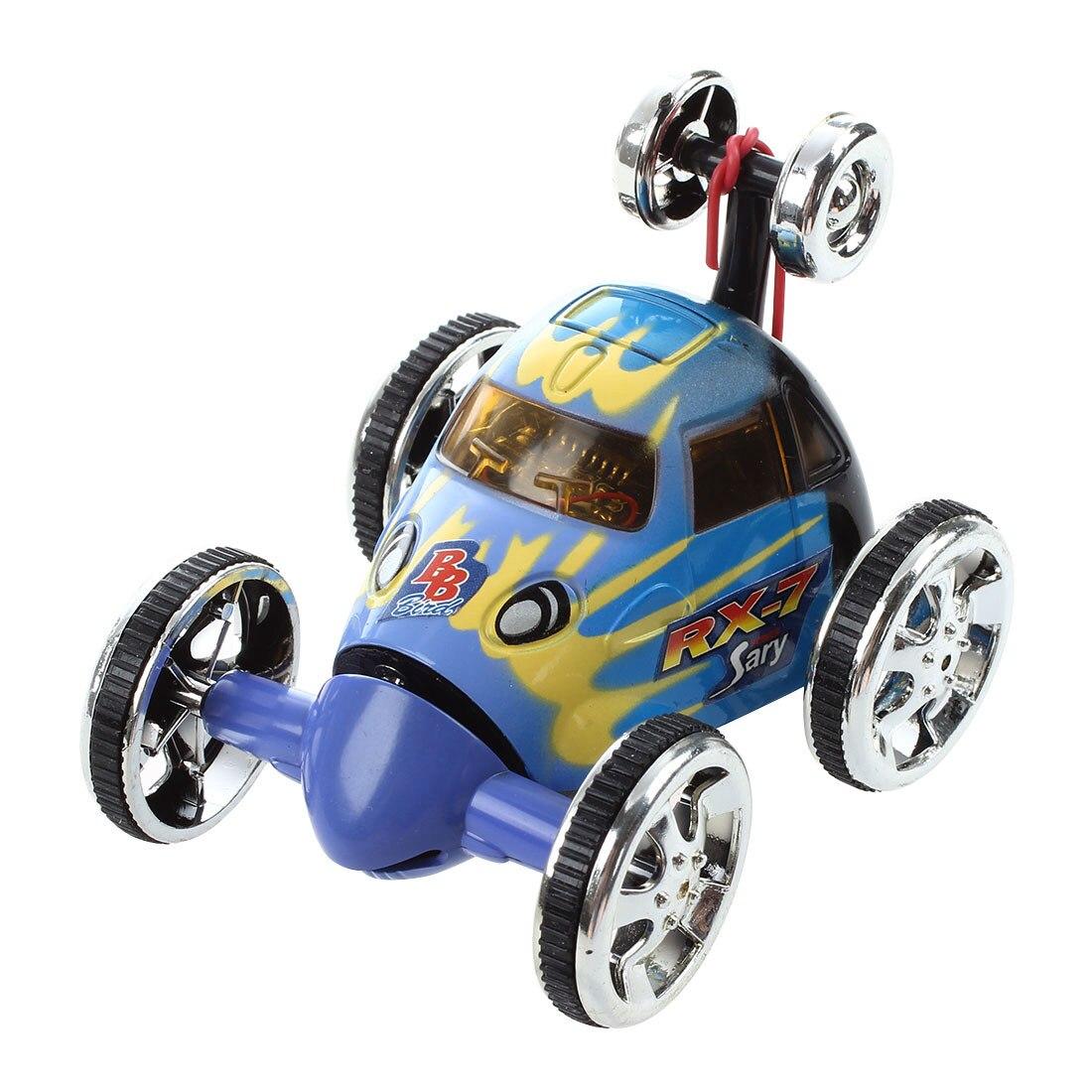 Mini Led RC 360 degree Wheelie Remote Control Stunt Car Toy Birthday Christmas Gift, Blue