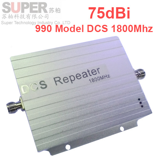 990 model High gain 72 dbi Quality A DCS 1800Mhz repeater and signal amplifier mobile phone signal booster DCS 1800Mhz repeater