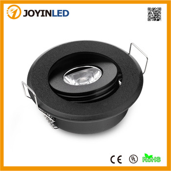 Free Shipping 10pcs/lot  High Power LED Downlighter 3W Black Color Mini LED Spot lights
