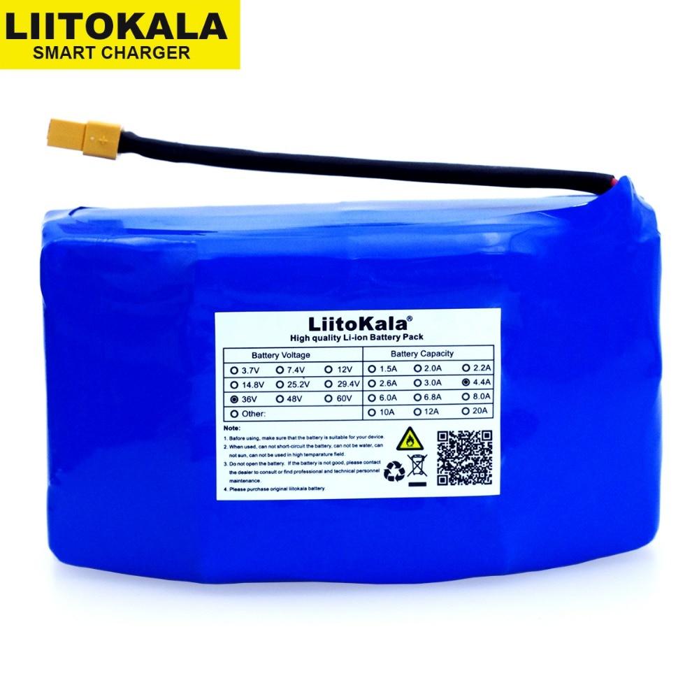 LiitoKala 36 v 4400 mAh Grande Drainage 2 scooter à roues eléctriques Auto Équilibrage 18650 batterie li-ion Pack pour Auto-Équilibrage Adapte