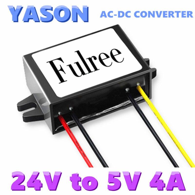 AC-DC power supply module 5v buck module AC24V turn DC5V 24V AC to DC 5V4A maitech 24v 200ma ultra small switching power supply module ac 220v turn to dc 24v green