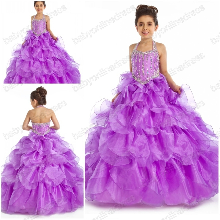 Aliexpress.com : Buy New Flower Girl Part Pageant Dress full size ...