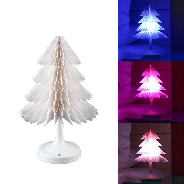 Christmas Tree LED Night Light Color Changing Christmas Tree Room Decoration Desk Lamp USB Lamps  Holiday Lighti