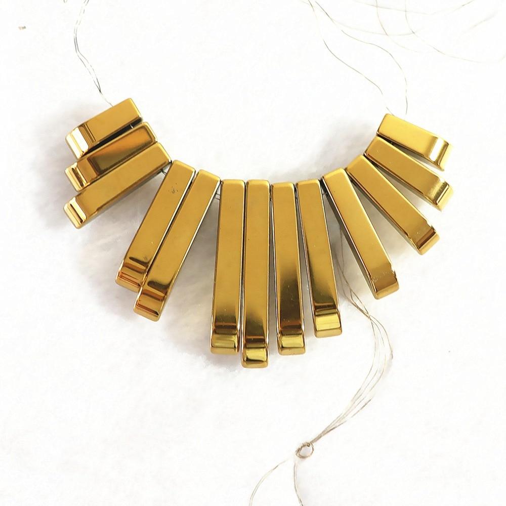 Diy Bouton De Meuble இgold-color hematite pendant stone diy necklace 10-29x4mm