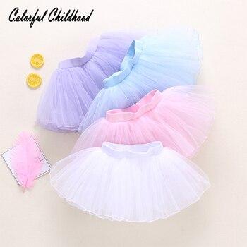 fbe140863 Estilo de princesa Tutu recién fluffy falda bebé niñas fiesta boda falda  Infantil Niño foto Prop ropa de bebé verano falda