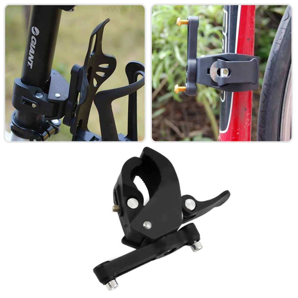 Bike Bicycle Cycling Handlebar Mount Clip Clamp for Water Bottle Cage Cup Holder
