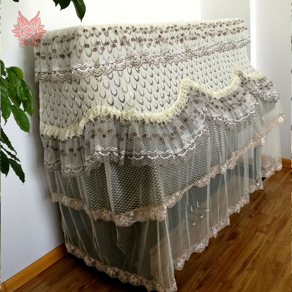 Luxury peacock floral embroidery lace upright piano cover dust proof piano stool cover hosse tabouret cache poussiere SP5283Luxury peacock floral embroidery lace upright piano cover dust proof piano stool cover hosse tabouret cache poussiere SP5283