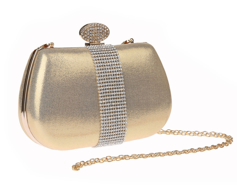 SchöN Frauen Abend Tasche Diamant Kupplung Abend Taschen Silber Gold Einfarbig Volle Strass Mini Kette Tasche Für Party Hochzeit Wy203 Kupplungen Gepäck & Taschen