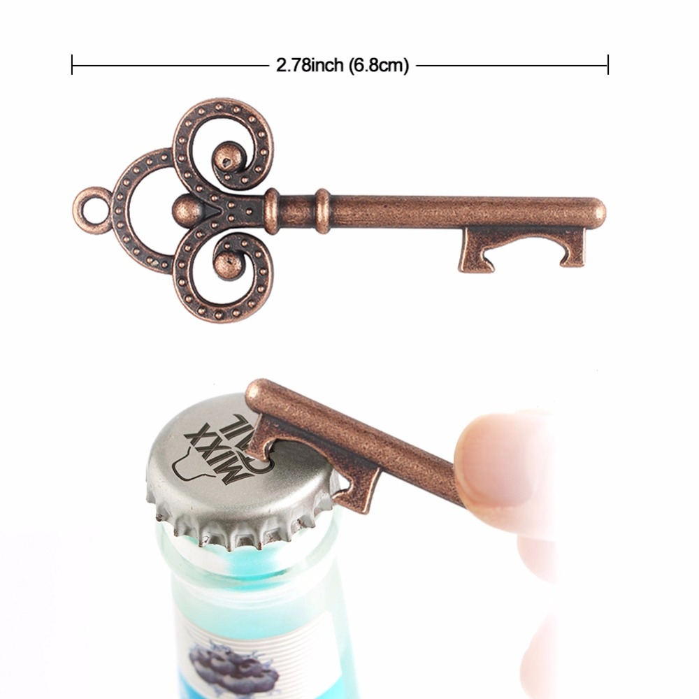 50pcs Wedding Souvenirs Skeleton Bottle Opener + Tags Wedding Favors ...