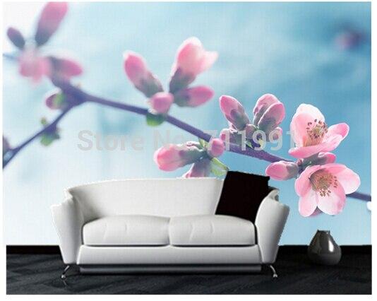 gratis verzending custom 3d pastel bloesems moderne muurschildering televisie sofa slaapkamer ktv bar achtergrond muur behang in gratis verzending custom 3d