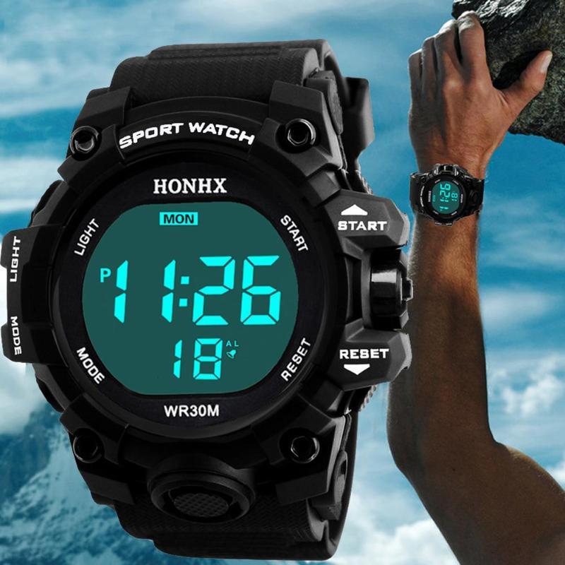 Geschickt 2018 Neue Sport Uhr Männer Teen Elektronische Watchproof Luminous Alarm Lcd Digital Sport Armbanduhr Für Männer Relogio Masculino Einfach Und Leicht Zu Handhaben Herrenuhren