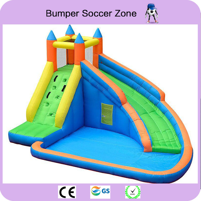 Free Shipping Kids Inflatable Water Slide Big Pool Bounce House Jumper Bouncer Jump Bouncy Castle
