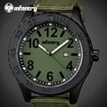 Infantry mens relógios top marca de luxo mens relógio de quartzo data hora relógio cinta de nylon moda casual militar do exército relógio de pulso