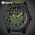 Infantry mens relojes de primeras marcas de lujo para hombre reloj de cuarzo hora fecha reloj correa de nylon de moda casual ejército militar reloj de pulsera