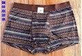 Сексуальная 100% антибактериальные шелк трикотажные мужские брюки брюки underwear underwear 10 цветной печати