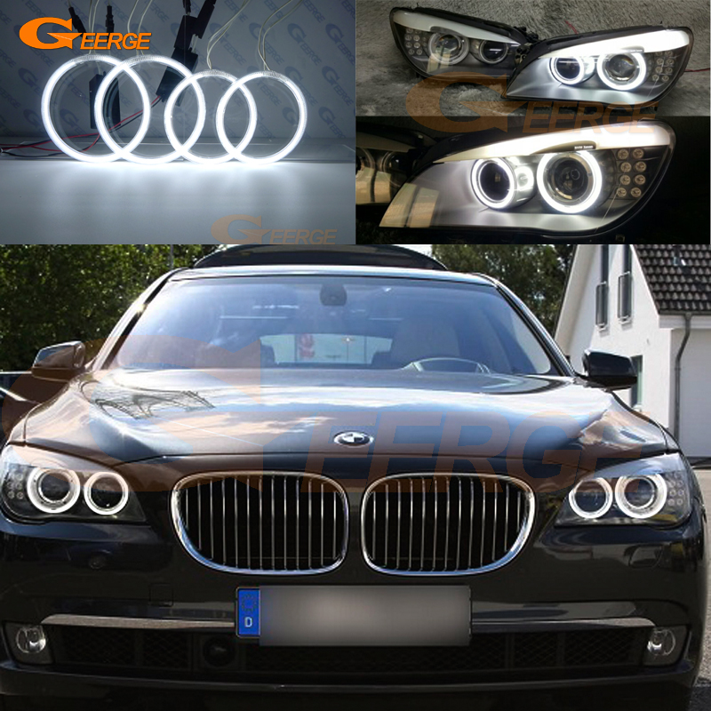 For BMW F01 F02 F03 F04 730d 740d 740i 750i 760i XENON headlight Ultra bright illumination CCFL angel eyes kit Halo Ring стоимость