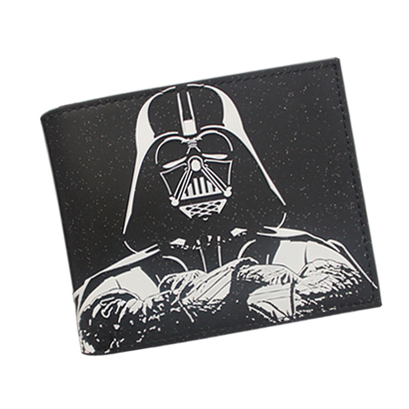 Star Wars Wallet High Quality Leather Short Purse Black Knight Wallet Movie Star War Series Comics Wallet For Teenager Boy Girls movie the dark knight the joker high quality pu short wallet purse with button