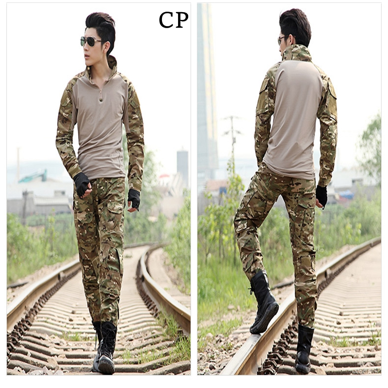 Tactical military uniform clothing army of the military combat uniform multicam tactical pants with knee pads camouflage clothes military uniform multicam army combat shirt uniform tactical pants with knee pads camouflage suit hunting clothes