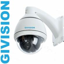 CCTV Камеры безопасности 800TVL мини PTZ Открытый антивандальные Аналоговые pan tilt zoom купольная камера видеонаблюдения системы
