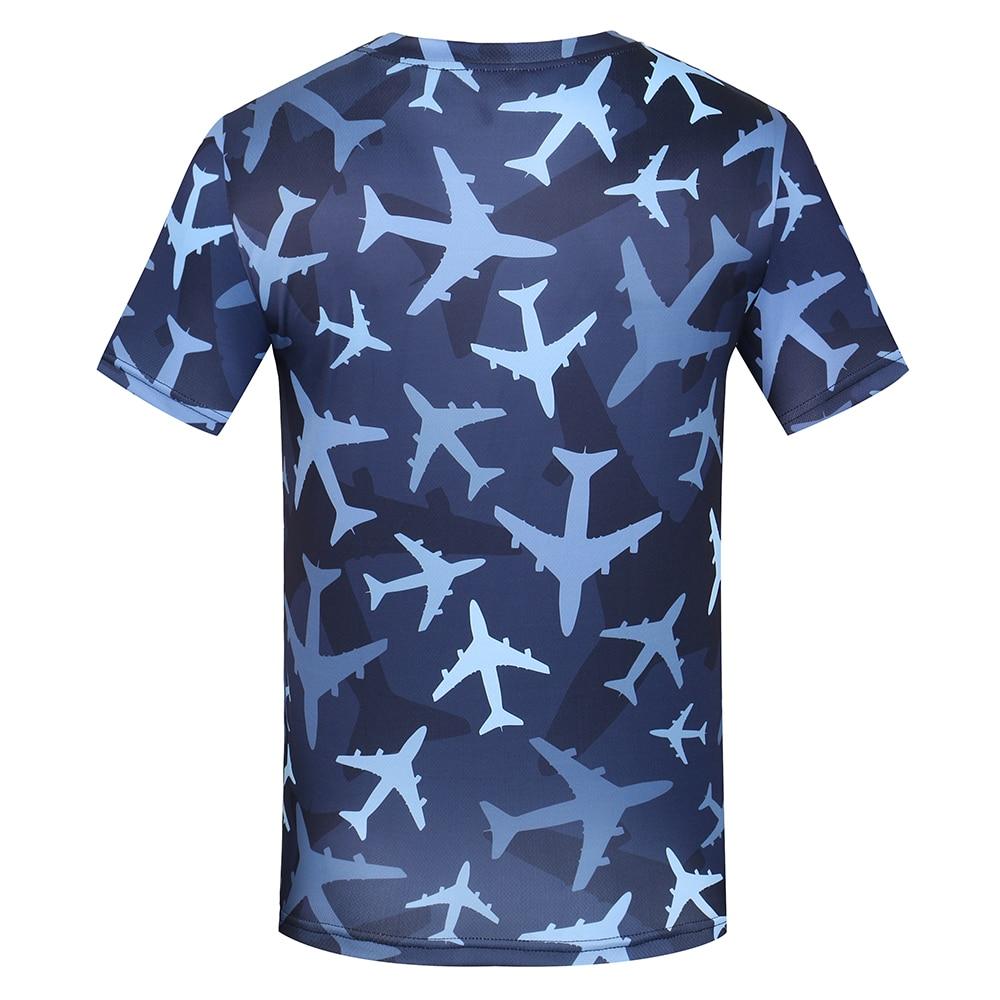 KYKU Aircraft moška majica majica maskirna vojaška majica fitnes - Moška oblačila - Fotografija 3