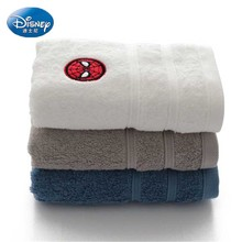 Disney Marvel Cartoon 100% cotton adult face towel Mens Solid color thick and soft Travel sports home Dropship 3pcs