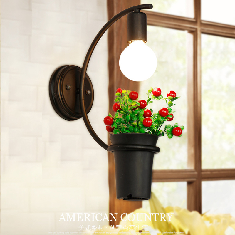 Modern Wall Lamp Plant Decor Wall Sconces Bedroom Restaurant Light Luminaire Home Lighting Coffee / Shop /Bar Plant Wall Light jocelyn rose k c annual plant reviews the plant cell wall isbn 9781405147736