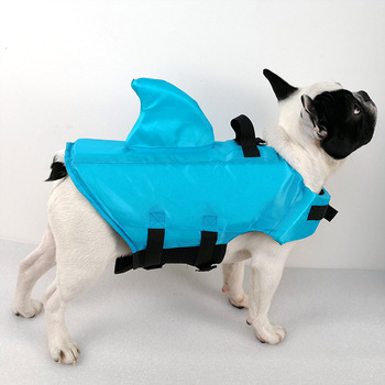 Shark Dog Life Jacket Safety Clothes Pet Life Vest Summer Dog Swimming Clothing French Bulldog Fin Jacket Play in the Sea 1
