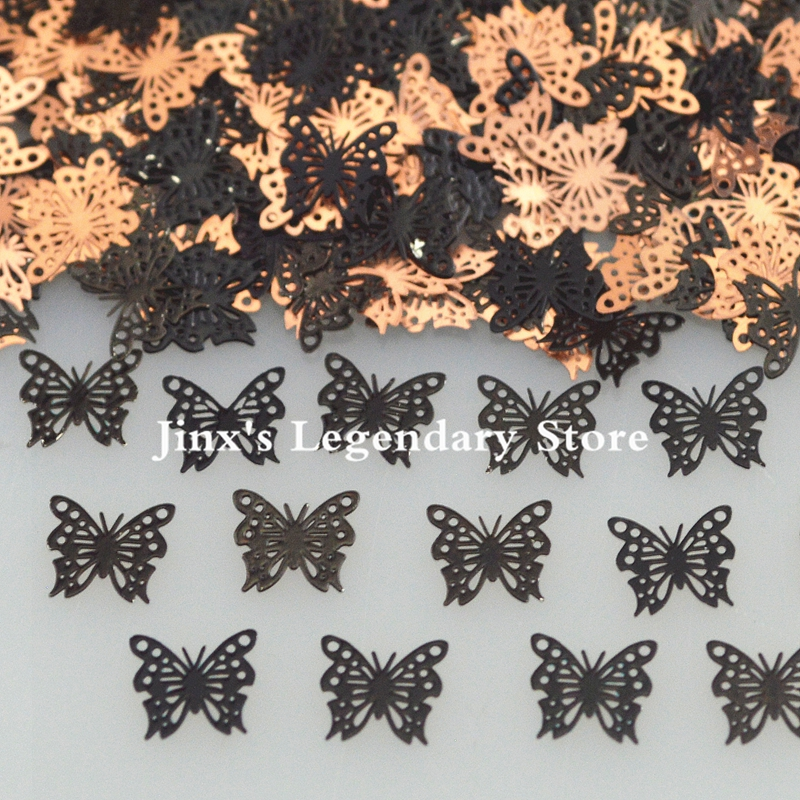 2018 black butterfly design decorations metal nail foil decals sticker for 3d Nail Art Decor Slice Stickers Decal  beauty tools 24pcs lot 3d nail stickers decal beauty summer styles design nail art charms manicure bronzing vintage decals decorations tools