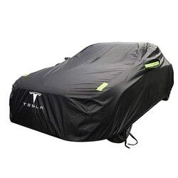 حار بيع تسلا غطاء سيارة خاصة واقية من الشمس حماية المطر غطاء سيارة مقاوم للماء جميع الطقس ل تسلا نموذج 3 نموذج S نموذج X