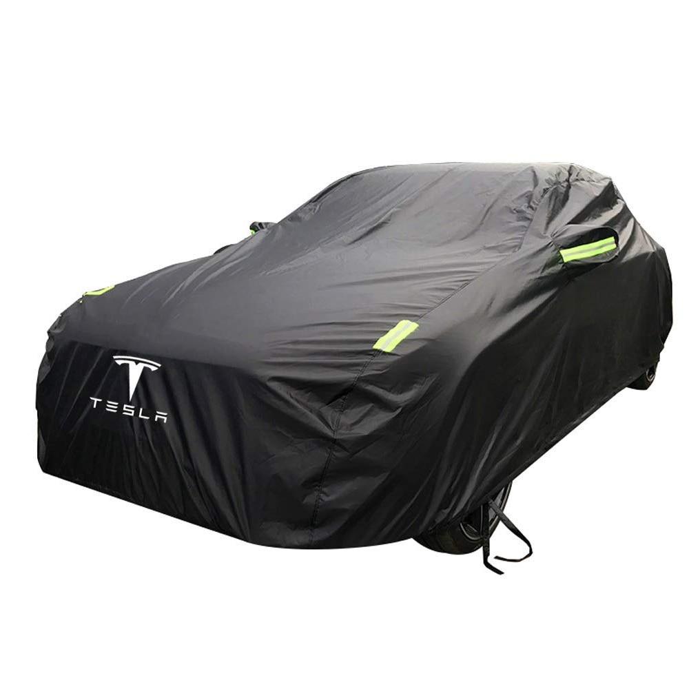 Gran oferta cubierta de coche tesla protección solar especial protección contra la lluvia cubierta impermeable de coche todo el tiempo para Tesla modelo 3 Modelo S modelo X