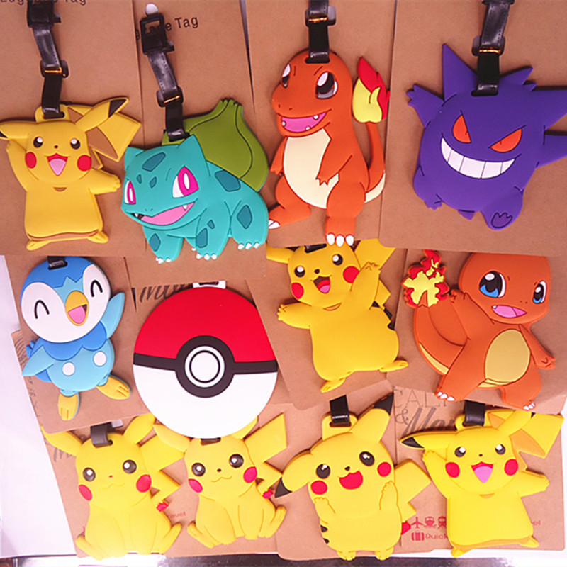 2018 Rushed Time-limited Mala Travel Accessories For Creative Luggage Tag Elf Pokbaby Pikachu Soft Rubber Suitcase Label Tags