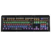 جديد 104 مفاتيح rgb الخلفية للماء السلكية الألعاب usb الكمبيوتر الميكانيكية kerborad مع المعصم الوسادة ل ويندوز 2000/xp