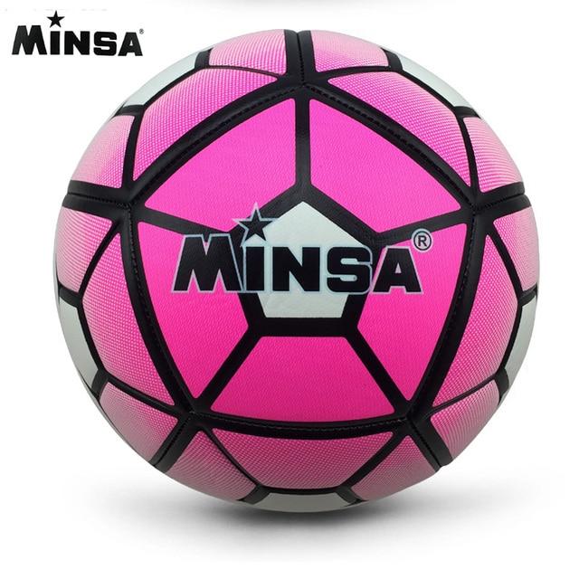 2018 MINSA estándar oficial de fútbol Bola de tamaño 5 formación Futebol  pelota de fútbol futbol f5341bac88c2f