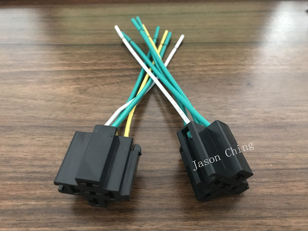 Car Truck 40A Black Relay Socket Harness Holder Connector