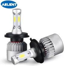 ASLENT 2pcs H7 LED S2 H4 H1 H11 H8 H9 H3 9005 9006 9007 880 Auto Car Accessories Headlight Bulbs 72W 8000LM Headlamp Bulb 6000K