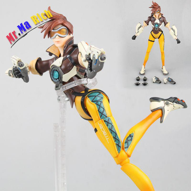 Hc Ow  Tracer Lena Oxton Pvc Action Figure New In  10 all characters tracer reaper widowmaker action figure ow game keychain pendant key accessories ltx1