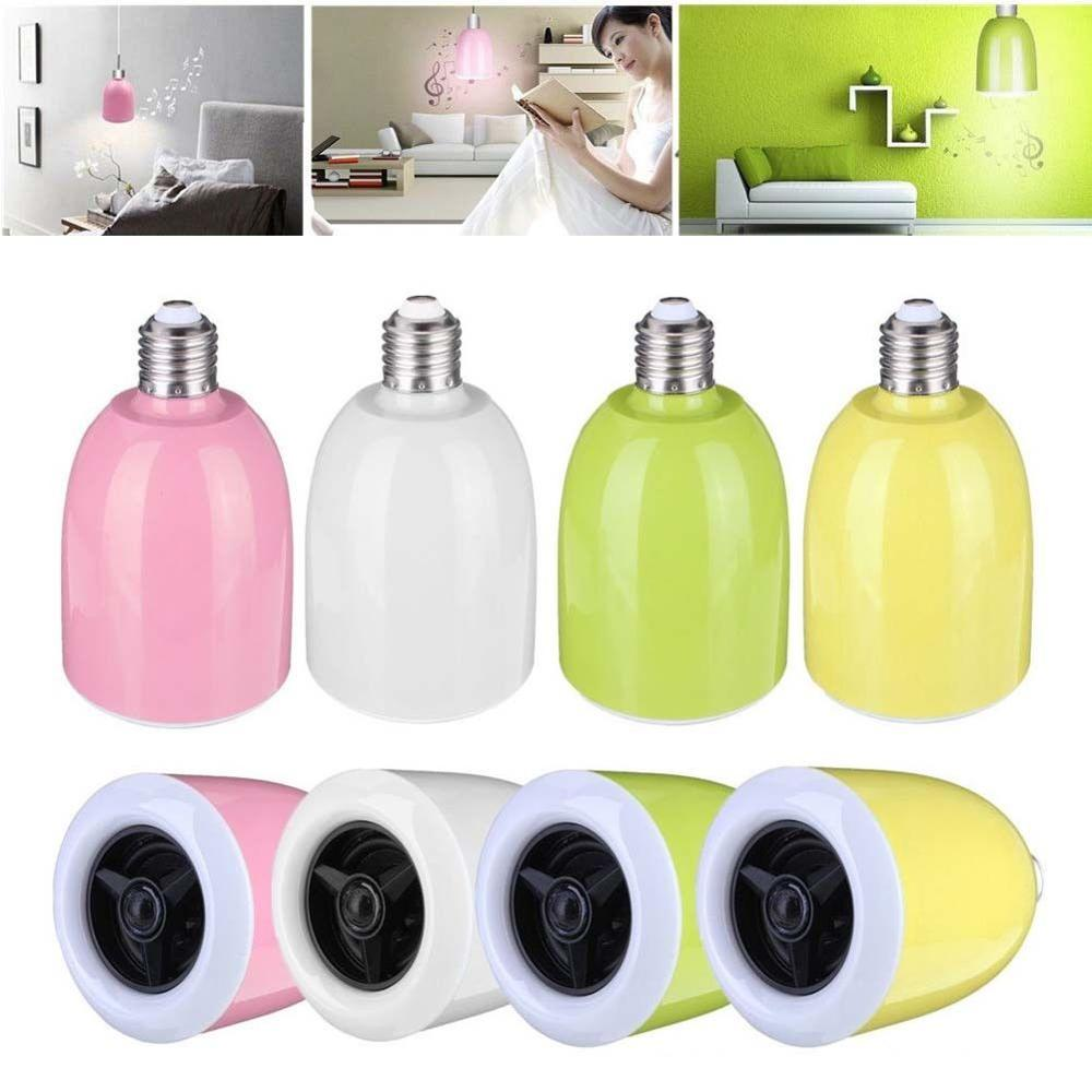 NEW E27 Bluetooth Control Music Audio Speaker Smart LED Color Bulb Light Lamp s15 smart led bulb bluetooth 4 0 speaker app control support