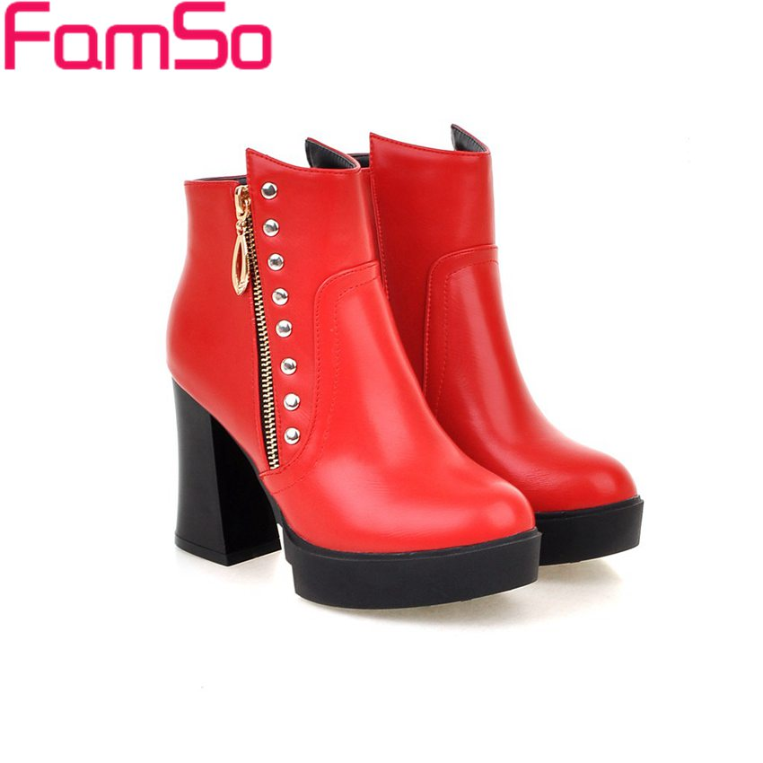 Popular Red Boots Women-Buy Cheap Red Boots Women lots from China ...