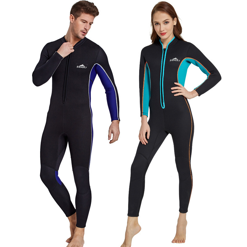 SBART Lovers Sunscreen Clothes Long Sleeve 3MM Thickening KeepWarm Lin Tai Swimming Suit Serve Jellyfish Clothes Diving Suit sbart upf50 rashguard 2 bodyboard 1006
