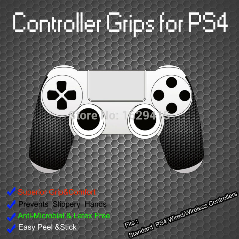 IVYUEEN 1 Pair Black Anti-slip Controller Grips Cover For Playstation Dualshock 4 PS4 PRO Slim Control Smarter Squid Hand Grip
